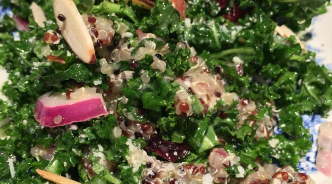 Make ahead, kale and quinoa Salad